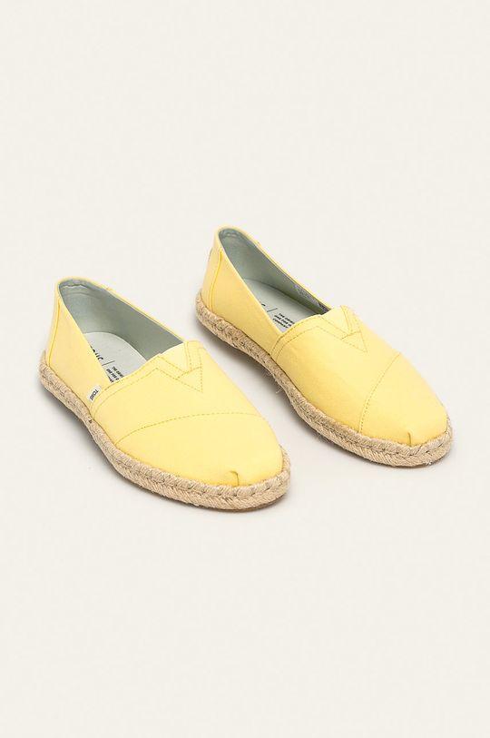 Toms - Espadrilky Classic jasně žlutá