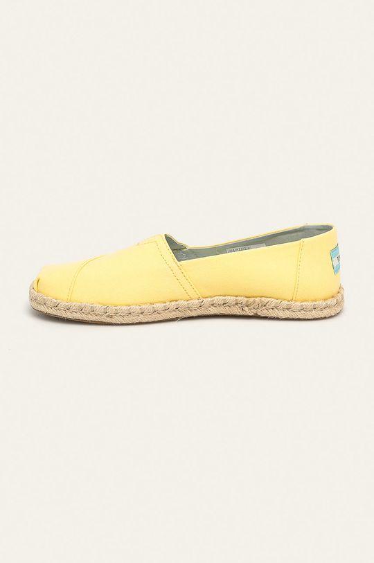 jasně žlutá Toms - Espadrilky Classic
