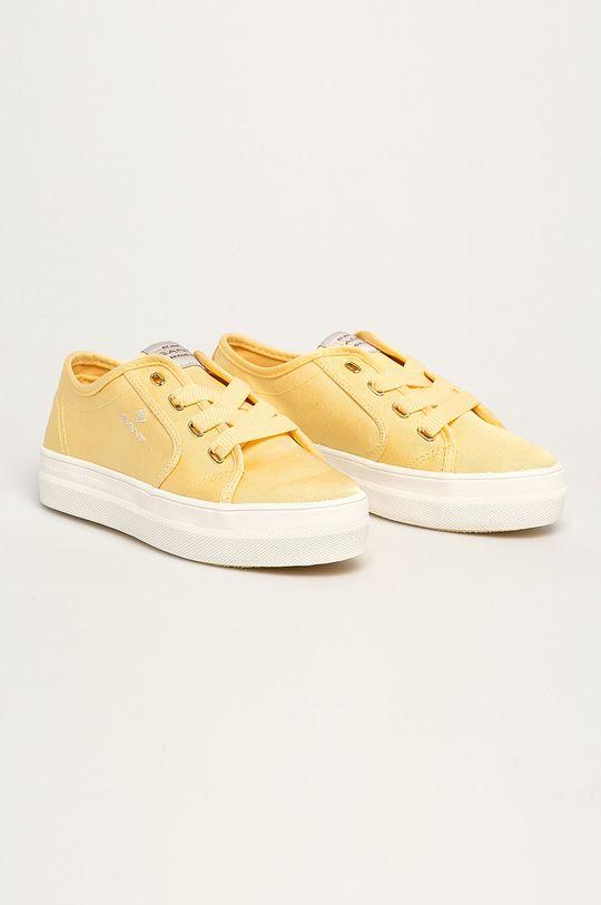 Gant - Tenisówki Leisha jasny żółty
