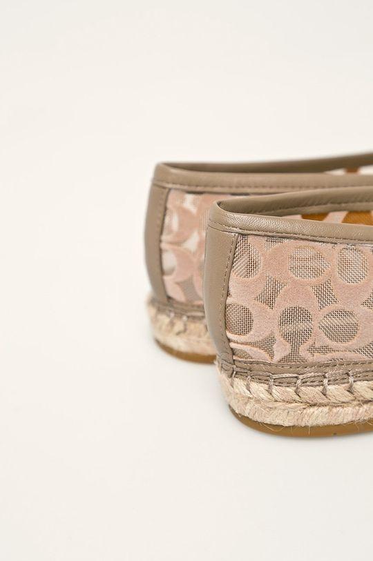 Coach - Espadrile Gamba: Material textil, Piele naturala Interiorul: Material sintetic Talpa: Material sintetic, Material textil