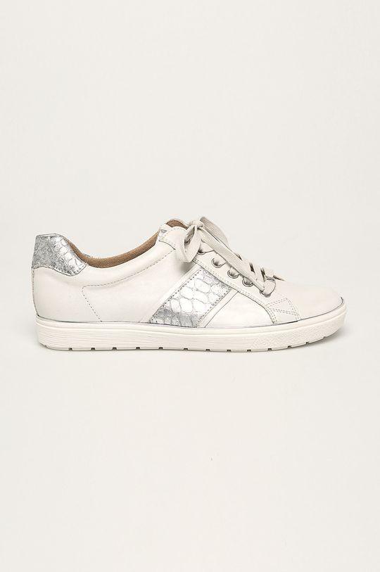 biela Caprice - Kožená obuv Dámsky