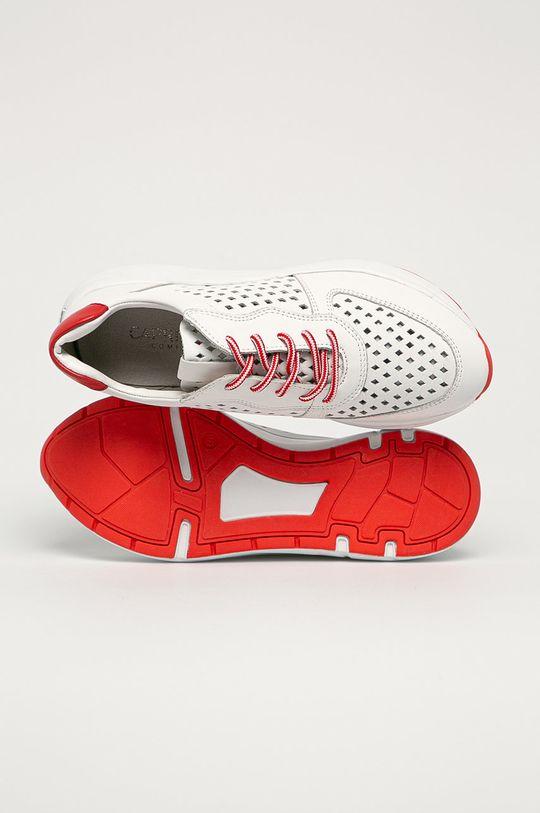 bílá Caprice - Kožené boty