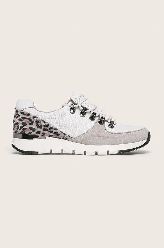 бял Caprice - Кожени обувки Жіночий