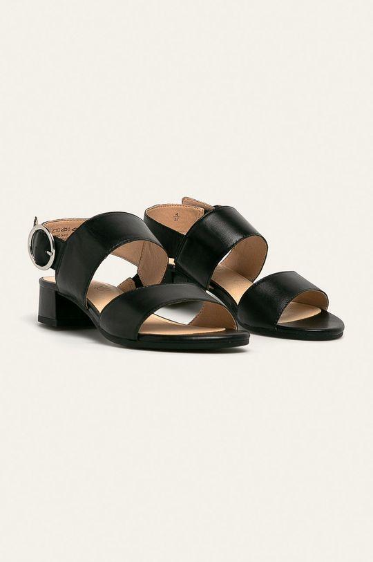 Caprice - Sandale de piele negru
