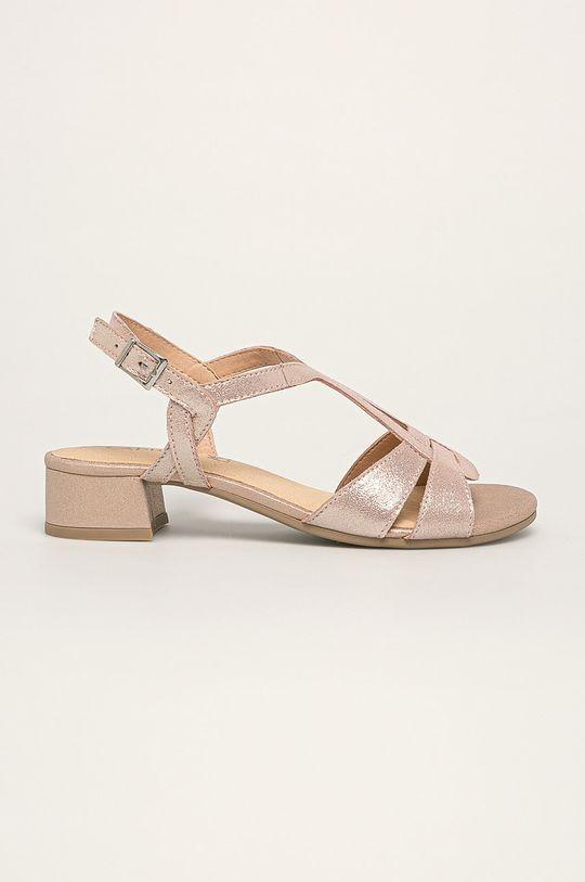 roz rosu Caprice - Sandale de piele De femei