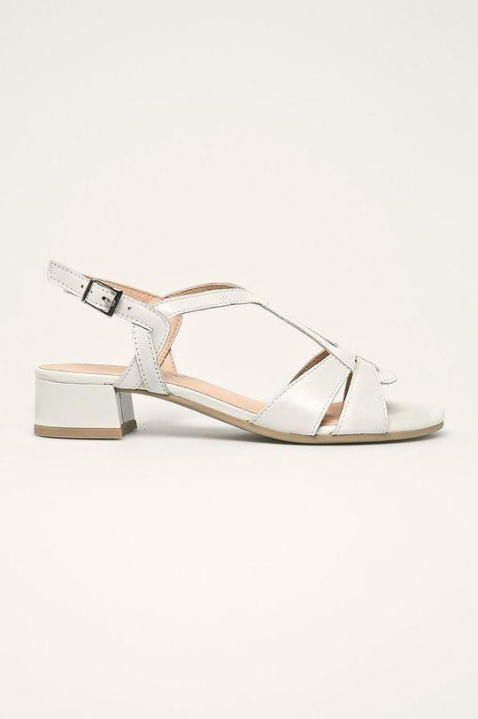 biela Caprice - Kožené sandále Dámsky