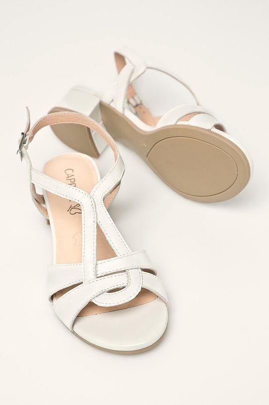 biela Caprice - Kožené sandále