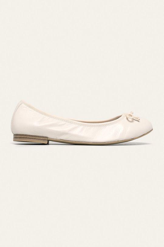 biela Caprice - Kožené balerínky Dámsky