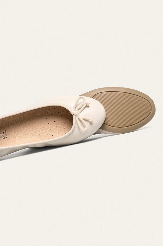 biela Caprice - Kožené balerínky