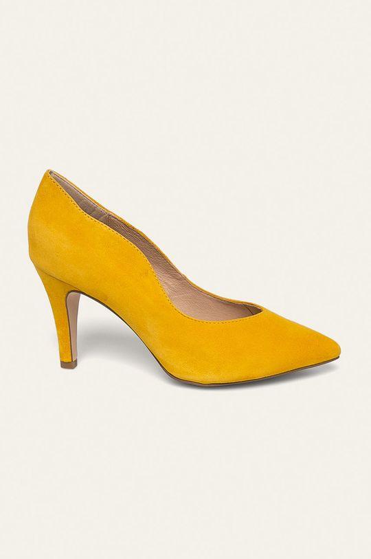 žltá Caprice - Kožené ihličky Dámsky