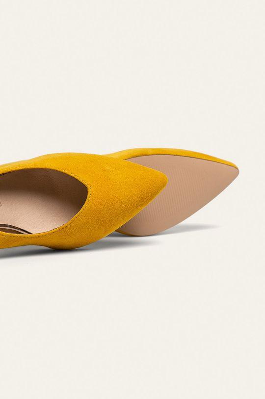 žltá Caprice - Kožené ihličky