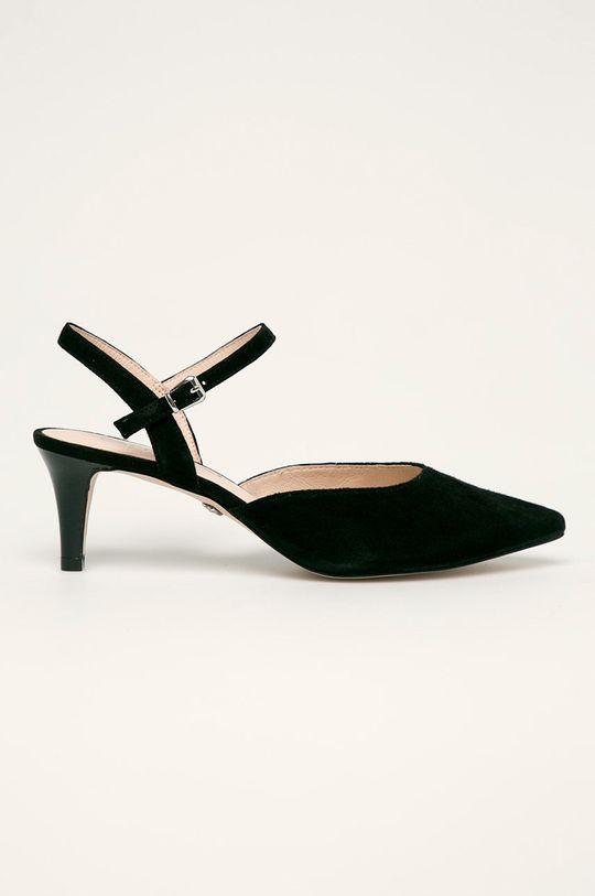 чорний Caprice - Шкіряні туфлі Жіночий