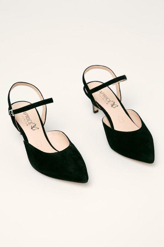 Caprice - Шкіряні туфлі чорний