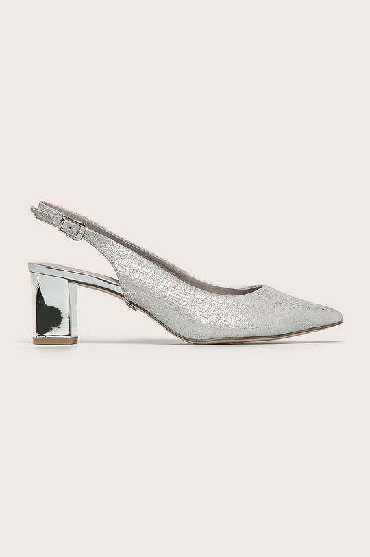 светлосив Caprice - Кожени обувки Жіночий