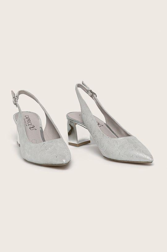 Caprice - Кожени обувки светлосив