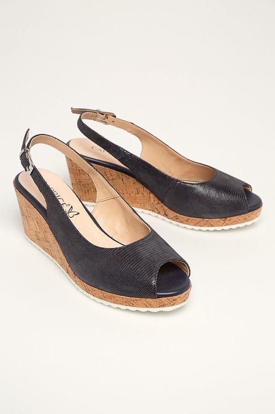 Caprice - Sandały skórzane granatowy