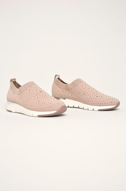Caprice - Topánky ružovo-červená