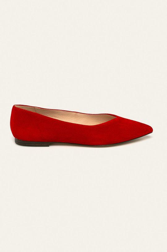 červená Caprice - Kožené balerínky Dámsky