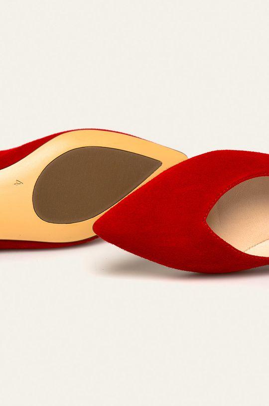 červená Caprice - Kožené balerínky
