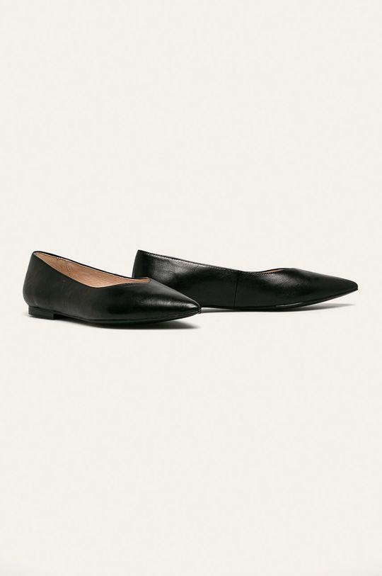 Caprice - Kožené balerínky čierna