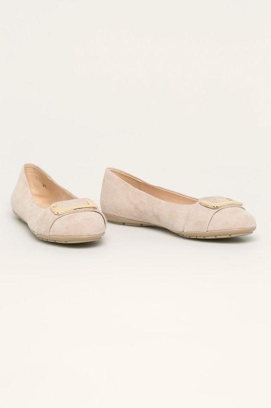 Caprice - Кожени балеринки пясъчен