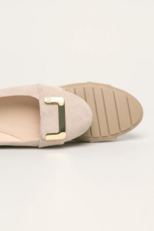 пясъчен Caprice - Кожени балеринки