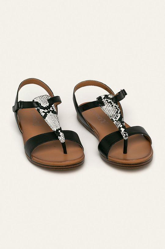 Caprice - Kožené sandále čierna