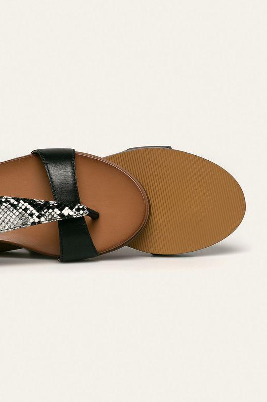 čierna Caprice - Kožené sandále
