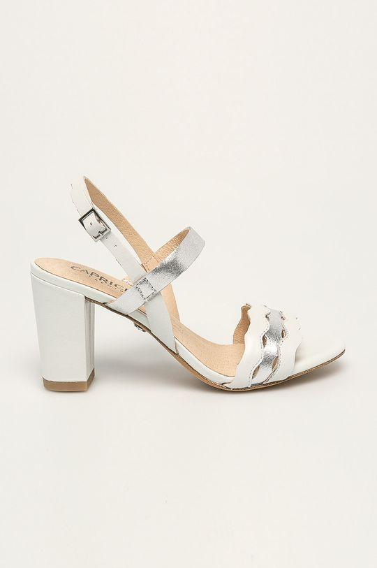 білий Caprice - Шкіряні сандалі Жіночий