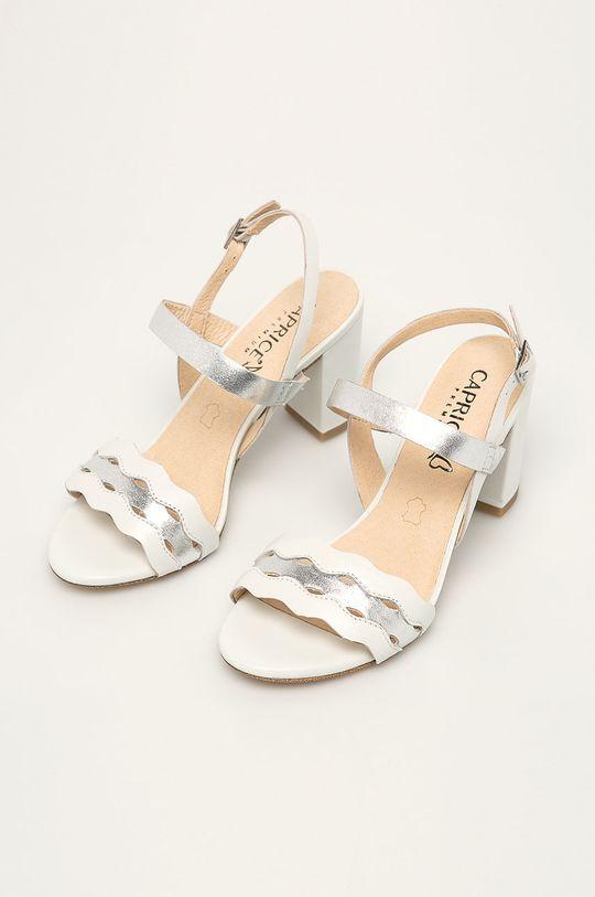 Caprice - Шкіряні сандалі білий