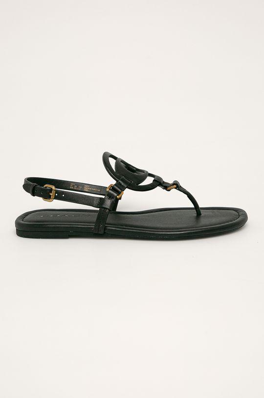 čierna Coach - Kožené sandále Dámsky