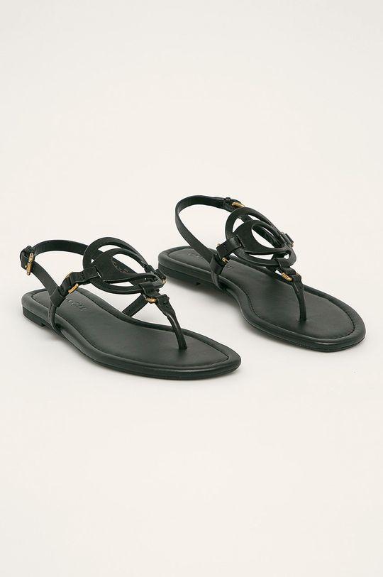 Coach - Kožené sandále čierna