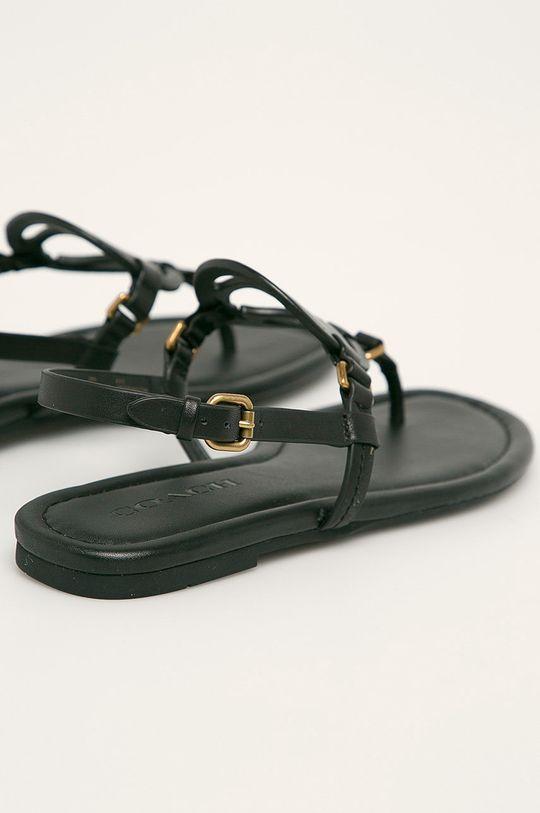čierna Coach - Kožené sandále