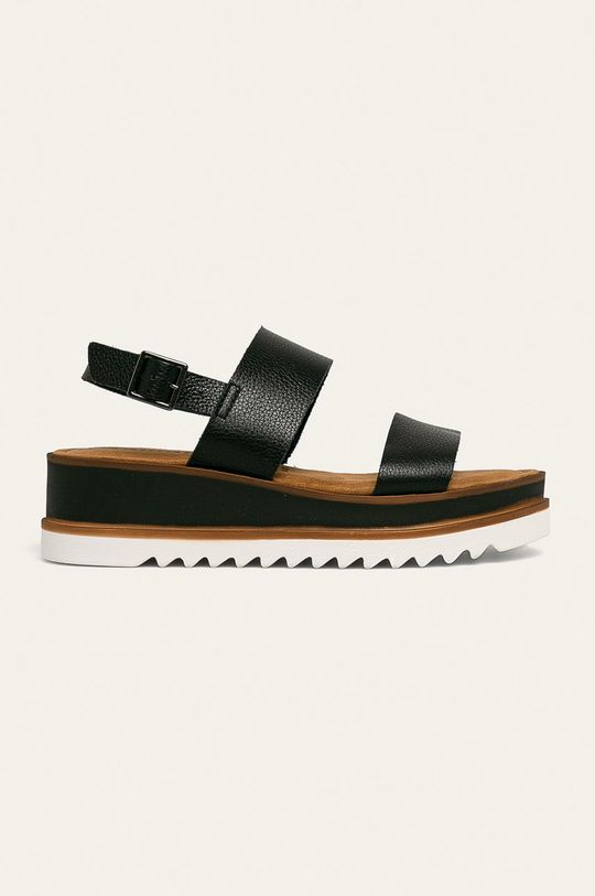 černá Tamaris - Kožené sandály Dámský