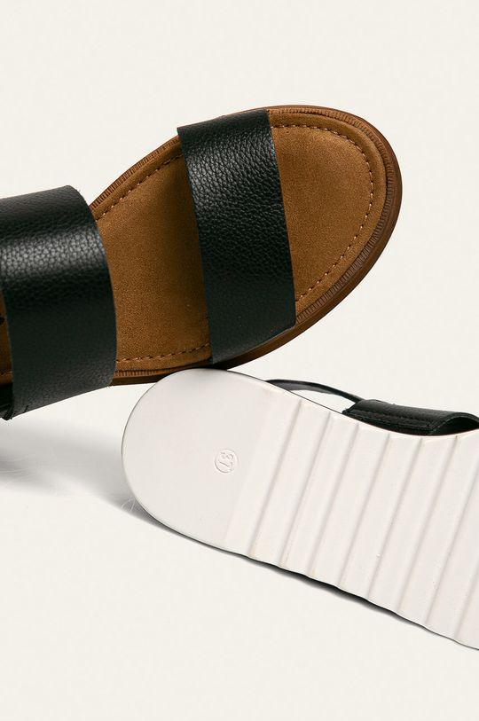 černá Tamaris - Kožené sandály