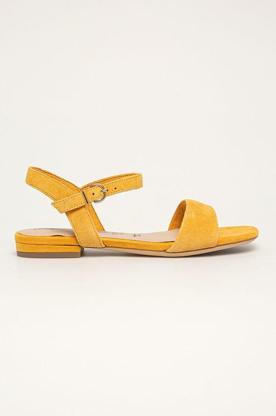galben Tamaris - Sandale de piele De femei