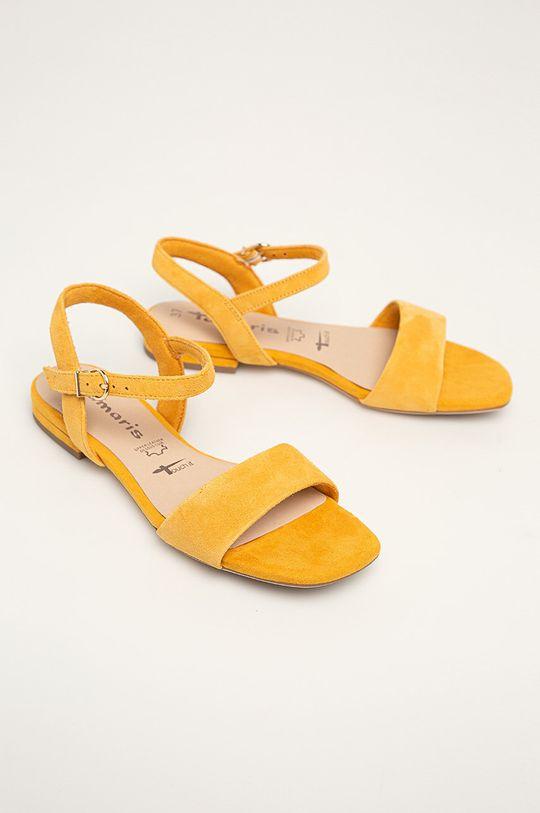 Tamaris - Sandale de piele galben