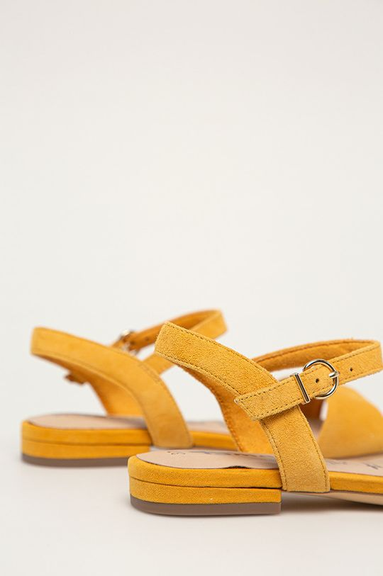 Tamaris - Sandale de piele  Gamba: Piele intoarsa Interiorul: Material sintetic, Material textil Talpa: Material sintetic