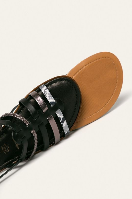 czarny Tamaris - Sandały
