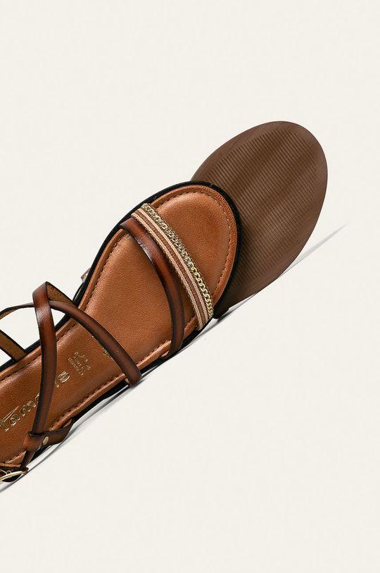 hnedá Tamaris - Kožené sandále