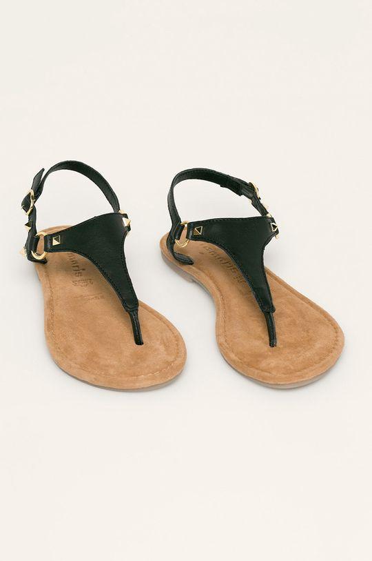Tamaris - Кожени сандали черен