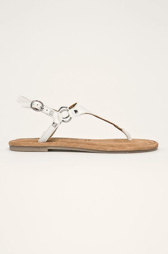 biela Tamaris - Kožené sandále Dámsky