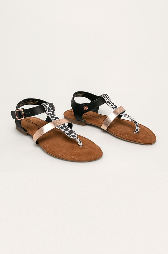 Tamaris - Sandały skórzane czarny