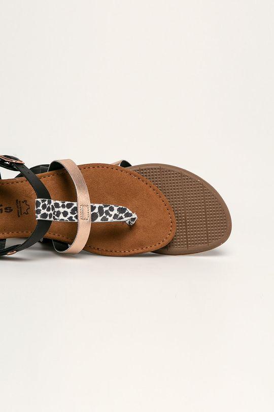czarny Tamaris - Sandały skórzane