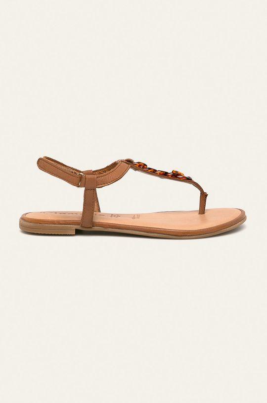 brązowy Tamaris - Sandały skórzane Damski