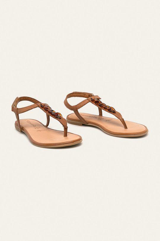 Tamaris - Sandały skórzane brązowy