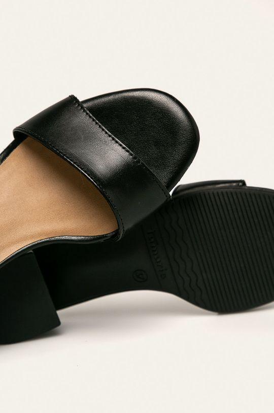 čierna Tamaris - Kožené sandále