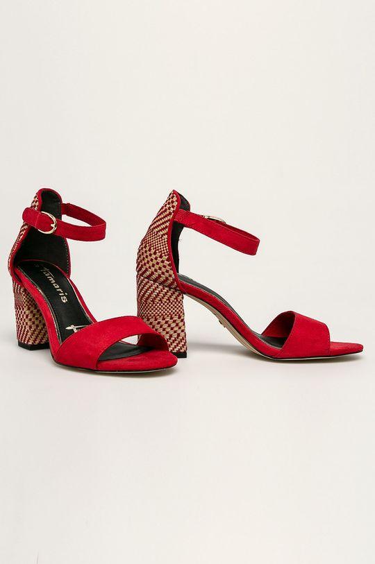 Tamaris - Sandále červená