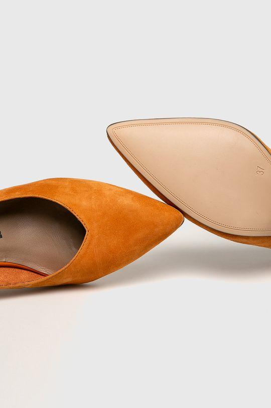oranžová Tamaris - Kožené lodičky