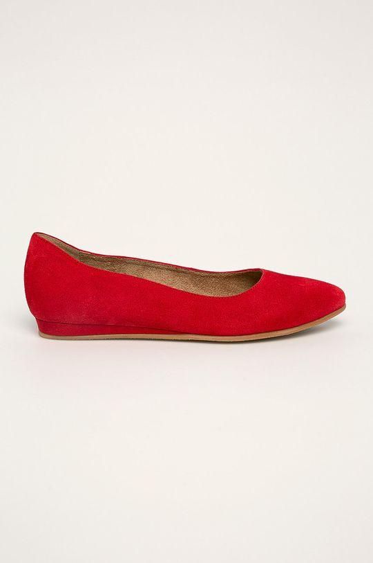 červená Tamaris - Kožené balerínky Dámsky
